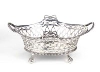 A Dutch silver sweetmeat basket