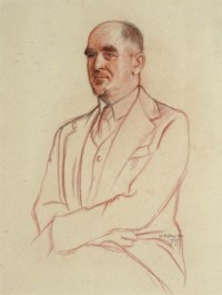 Portrait of Sir David Low, half-length