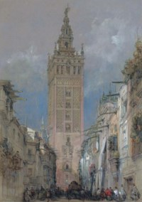 The Moorish tower at Seville, called the Giralda, Spain
