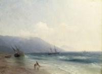 Fishermen on the Crimean coast