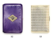 A jewelled enamelled gold cigarette-case