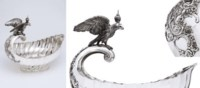 A highly Important monumental silver presentation punch bowl formed as a kovsh