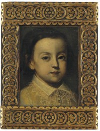 Portrait of a young boy, with a lace collar
