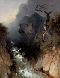 The rocky waterfall