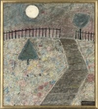 Point Hill; October Moon; Excavated City; and Landscape with flowering base