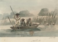 Fishermen in a punt at Oatlands