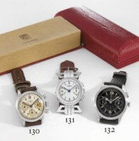 Tissot. A large and attractive stainless steel aviator's chronograph wristwatch with black dial