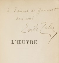 ZOLA, Émile (1840-1902). L'Oeuvre. Paris: G. Charpentier, 1886.