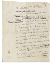 MAURIAC, François (1885-1970). Le Don Juan d'Aix-en-Provence. Manuscrit autographe paraphé F.M. S.d. [1949?].