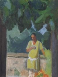 Figur unter Baum