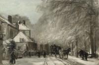 The Oude Scheveningseweg in winter, The Hague