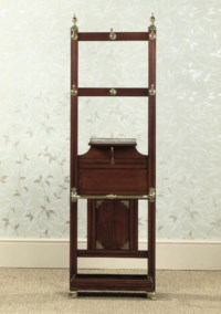 A LATE VICTORIAN BRASS-MOUNTED MAHOGANY HALL STAND