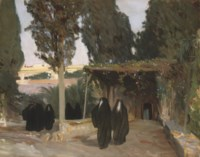 A shaded pathway in the Orient