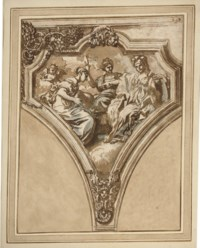 Temperance, Prudence and Fortitude: Design for a pendentive