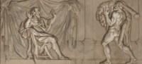 Hercules bringing the pelt of the Nemean Lion to Eurystheus