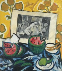 Still life with watermelons