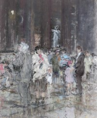 Crowds in the Pantheon, Rome (illustrated); and Santa Maria Formosa, Venice