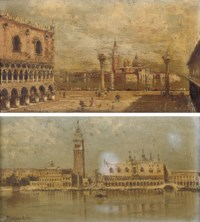 Piazza San Marco, Venice; and On the Lagoon before Piazza San Marco, Venice