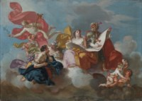 The Arts: a modello for a ceiling decoration