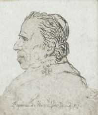 Pope Pius VII, in profile, bust length