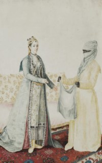 A Europen woman with her Turkish servant