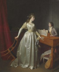 A lady at the clavichord