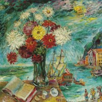 Seaport and Flowers