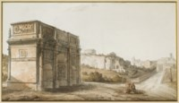 L'arc de Constantin et la Via Sacra à Rome