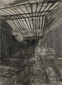 Modèle dans l'atelier, rue de Crussol