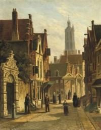Figures in a sunlit street