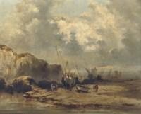 Ships by low tide
