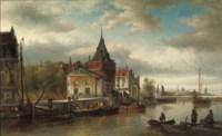 The Prins Hendrikkade by the Schreierstoren, Amsterdam