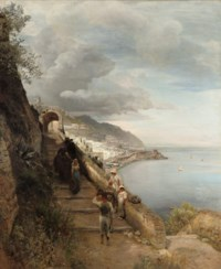 The entrance of a convent at the gulf of Sorrento
