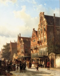 The Quasihuis of Rembrandt on the St. Anthoniebreestraat, Amsterdam