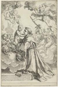 Saint Anthony of Padua adoring the Christ Child in Glory (B. 25; Bellini 26)