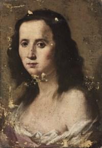 Portrait of a girl, bust-length