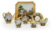 A Porcelain Tete-A-Tete Tea Service