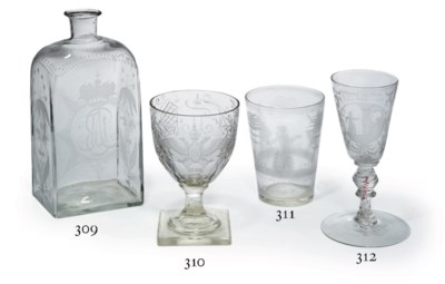 A Very Rare Clear Glass Etched