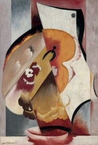 Abstract composition with palette