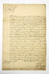 GEORGE III (1738-1820), King of the United Kingdom of Great Britain and Ireland. Autograph letter signed to his son Frederick, Duke of York, Weymouth, 12 August 1796, approving Frederick's actions in a number of matters relating to the armed forces, one page, 4to, with a copy of Frederick's letter of 10 August; with a document signed and a letter signed, the first a warrant to pay the salary of an assistant to Nevil Maskelyne, the Astronomer Royal, 5 July 1771, the second a letter signed (with a scrawl) to Mr Ryder, 5 June 1810, together two page, 4to and folio;