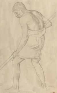 Study of a man digging, for 'When Adam delved'