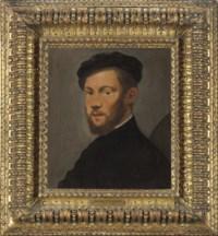 Portrait of a bearded man, bust-length