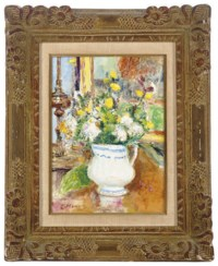Still life with flowers in a pitcher