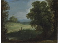A landscape with shepherds and their flocks
