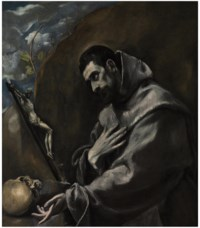 Saint Francis of Assisi in meditation
