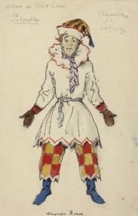 A costume design for Petrushka: Nijinsky as Petrushka