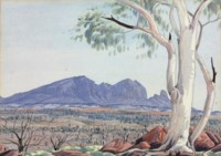 Ghost gum, MacDonnell Ranges, 1953