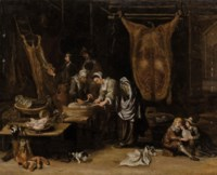A butcher's interior