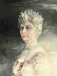 Portrait of H.R.H Queen Mary (1867-1953), half-length