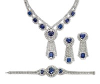 A SAPPHIRE AND DIAMOND SUITE, BY TABBAH